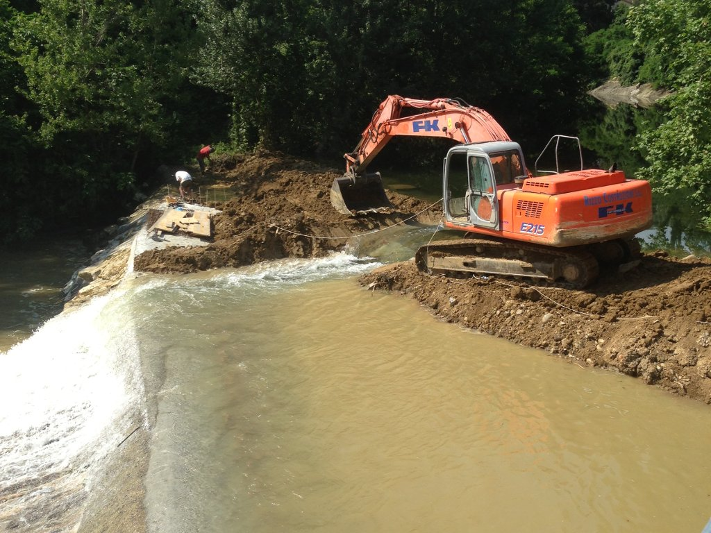 digging in the riverbed